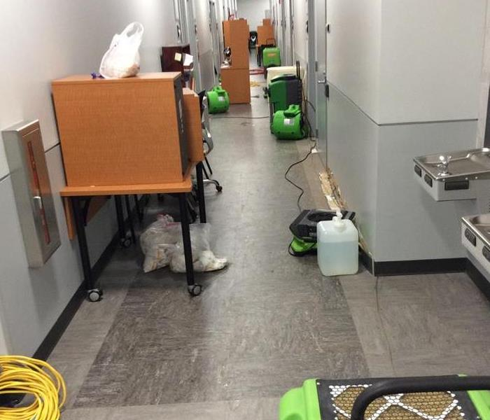 Water pipe broke in office building